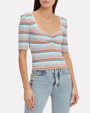 Darcy Striped Crop Top, MULTI, hi-res
