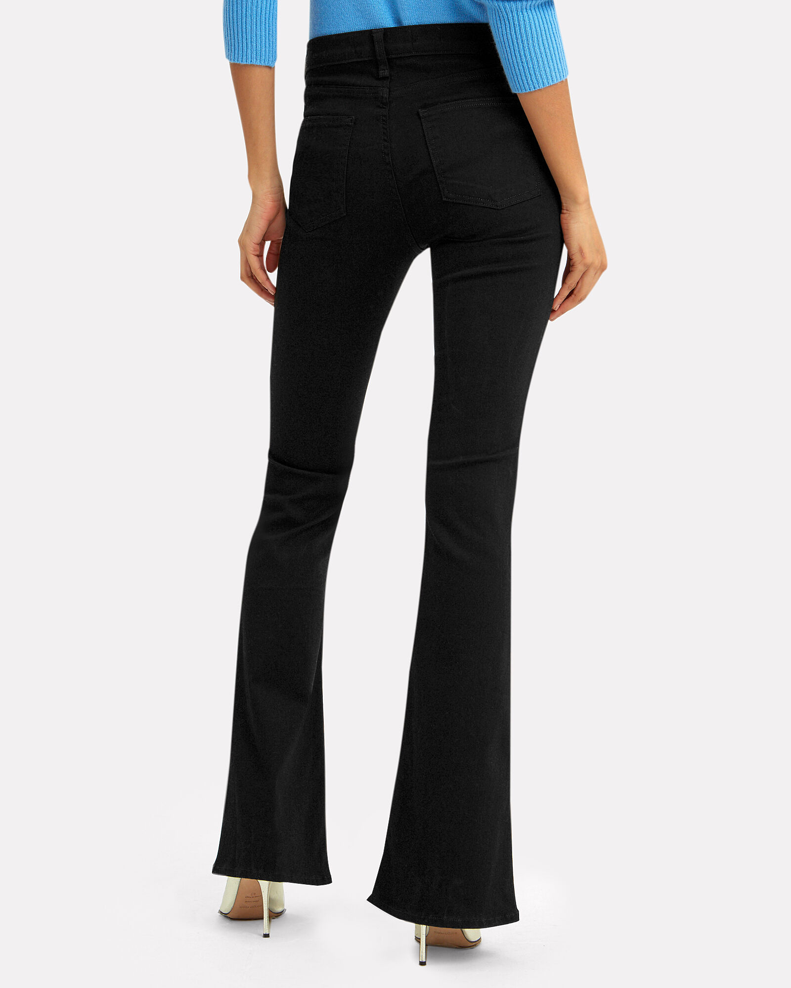 Beverly Flared High-Rise Jeans, RAVEN, hi-res