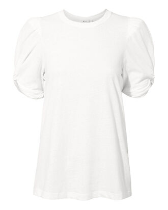 Kati White Puff Sleeve T-Shirt, WHITE, hi-res