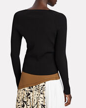 Lesley Corset Rib Knit Top, BLACK, hi-res