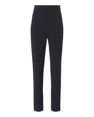 Navy Crepe Cigarette Pants, NAVY, hi-res