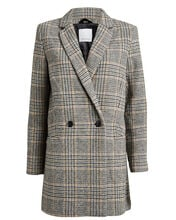 Ditte Checked Wool Blazer, MULTI, hi-res