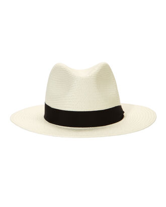 White Panama Hat, WHITE, hi-res