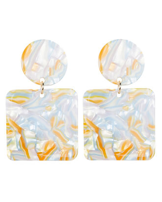 Abigail Earrings, MARBLED IVORY, hi-res