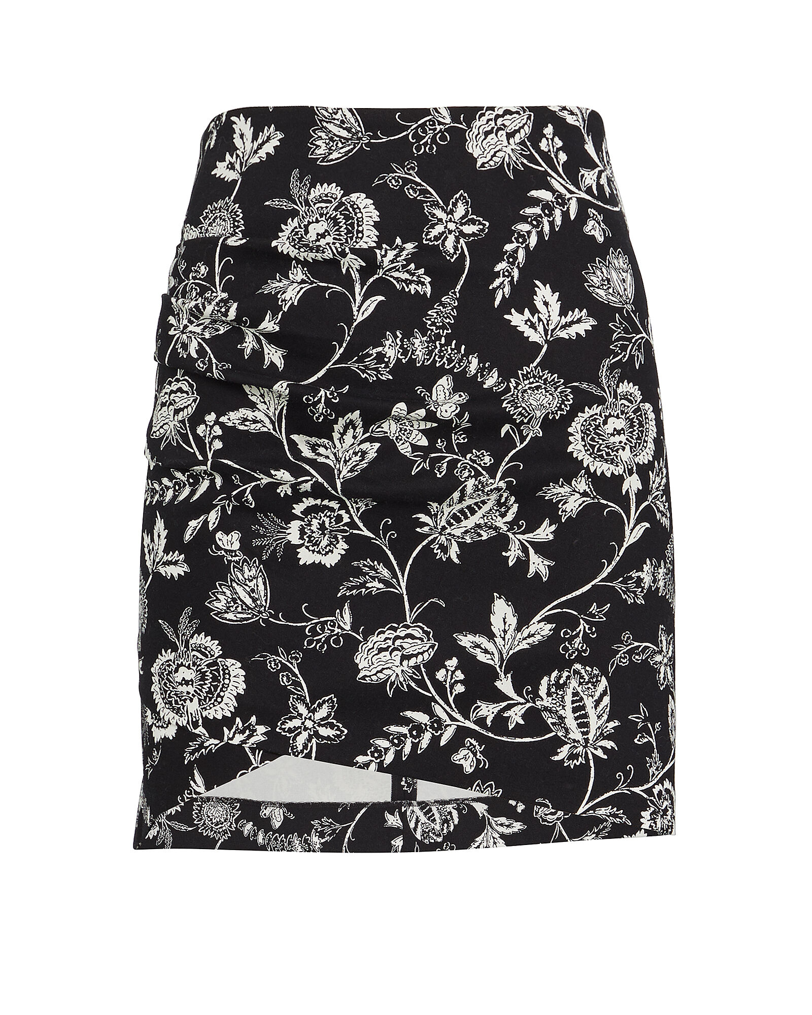 Agatha Floral Mini Skirt, BLACK/WHITE, hi-res