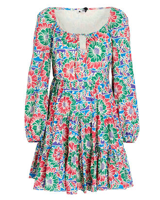 Roxy Hibiscus Floral Mini Dress, RED/GREEN FLORAL, hi-res