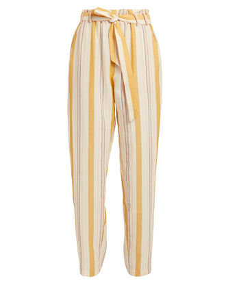 Zeritu High-Waisted Pants, YELLOW STRIPE, hi-res