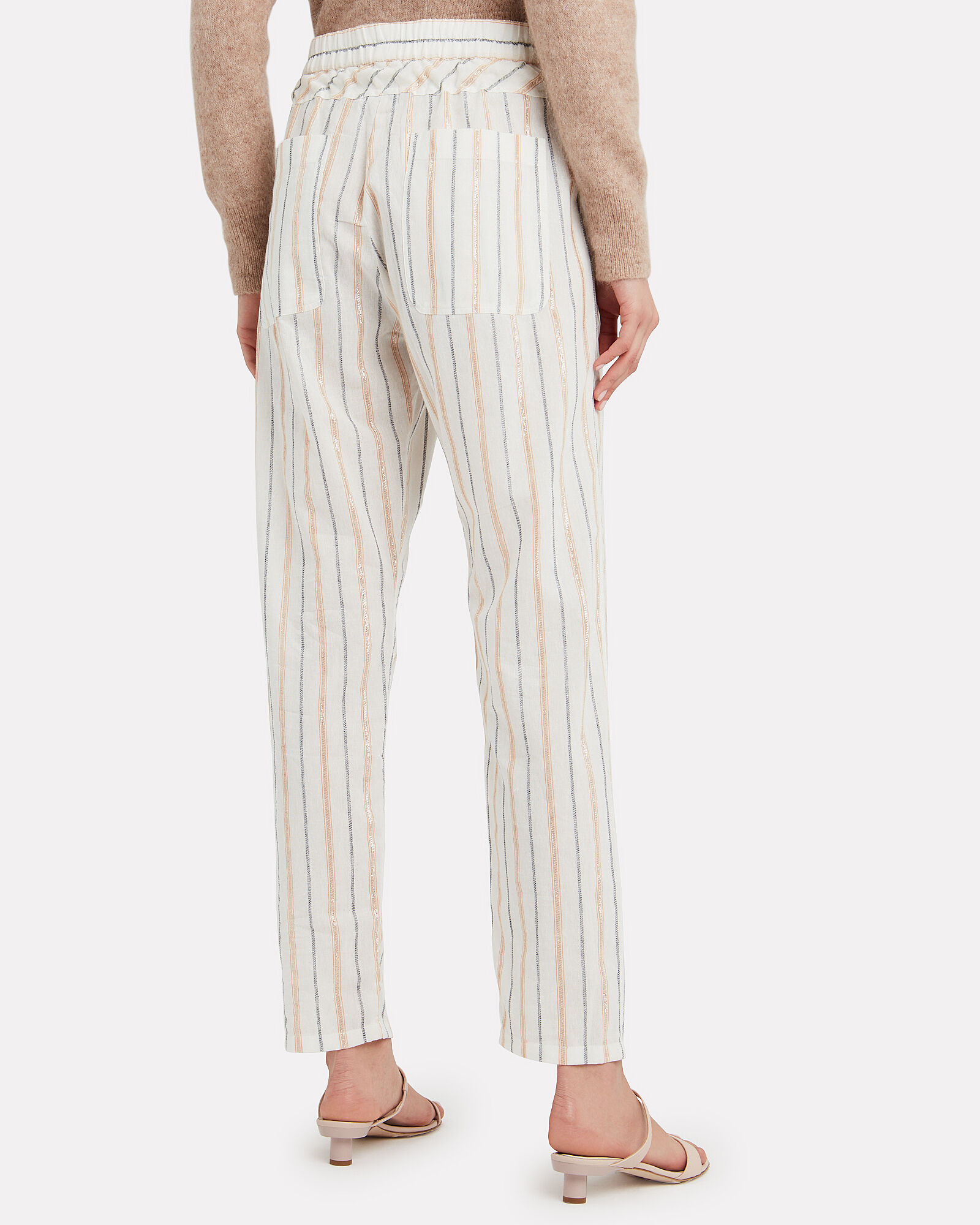 Amanda Stripe Pants, IVORY, hi-res
