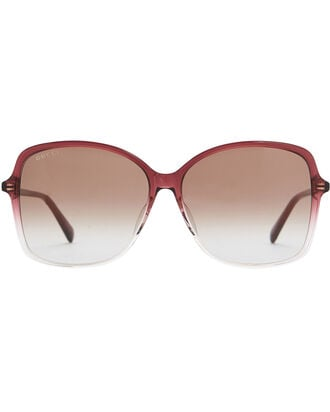 Oversized Square Sunglasses, BURGUNDY, hi-res