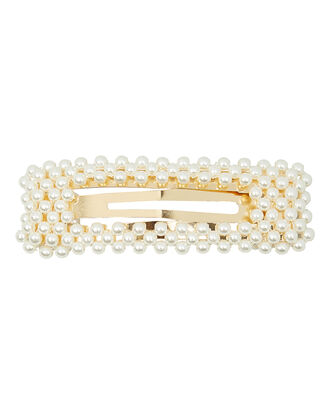 Val Pearl Hair Clip, IVORY, hi-res