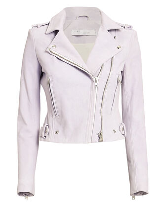 Dylan Lilac Cropped Moto Jacket, LILAC, hi-res