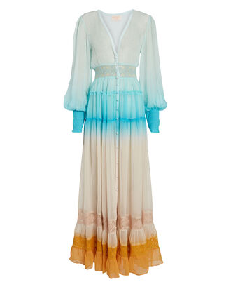 Ombré Maxi Dress, BLUE-MED, hi-res