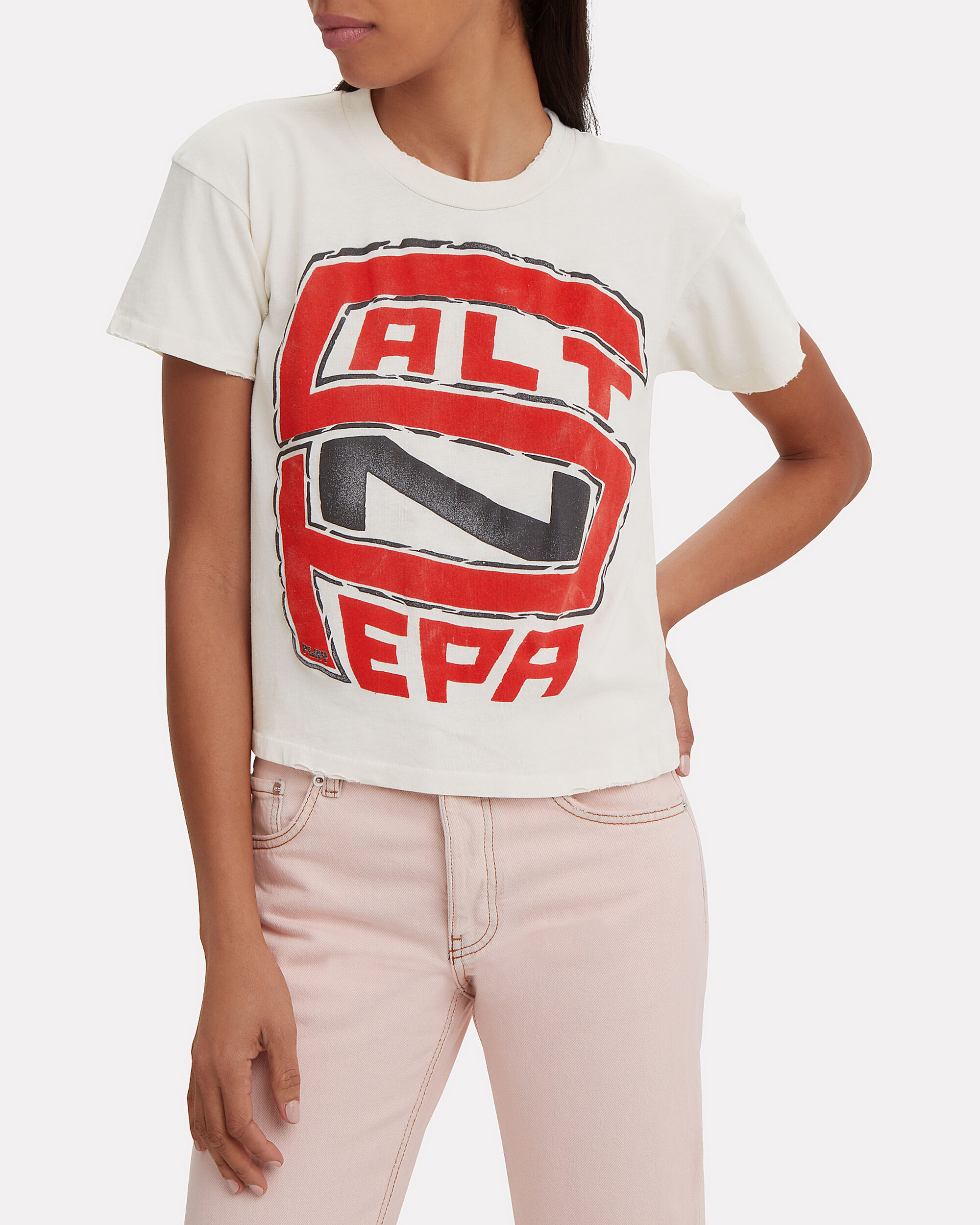 Salt N Pepa Cropped T-Shirt, WHITE/RED, hi-res