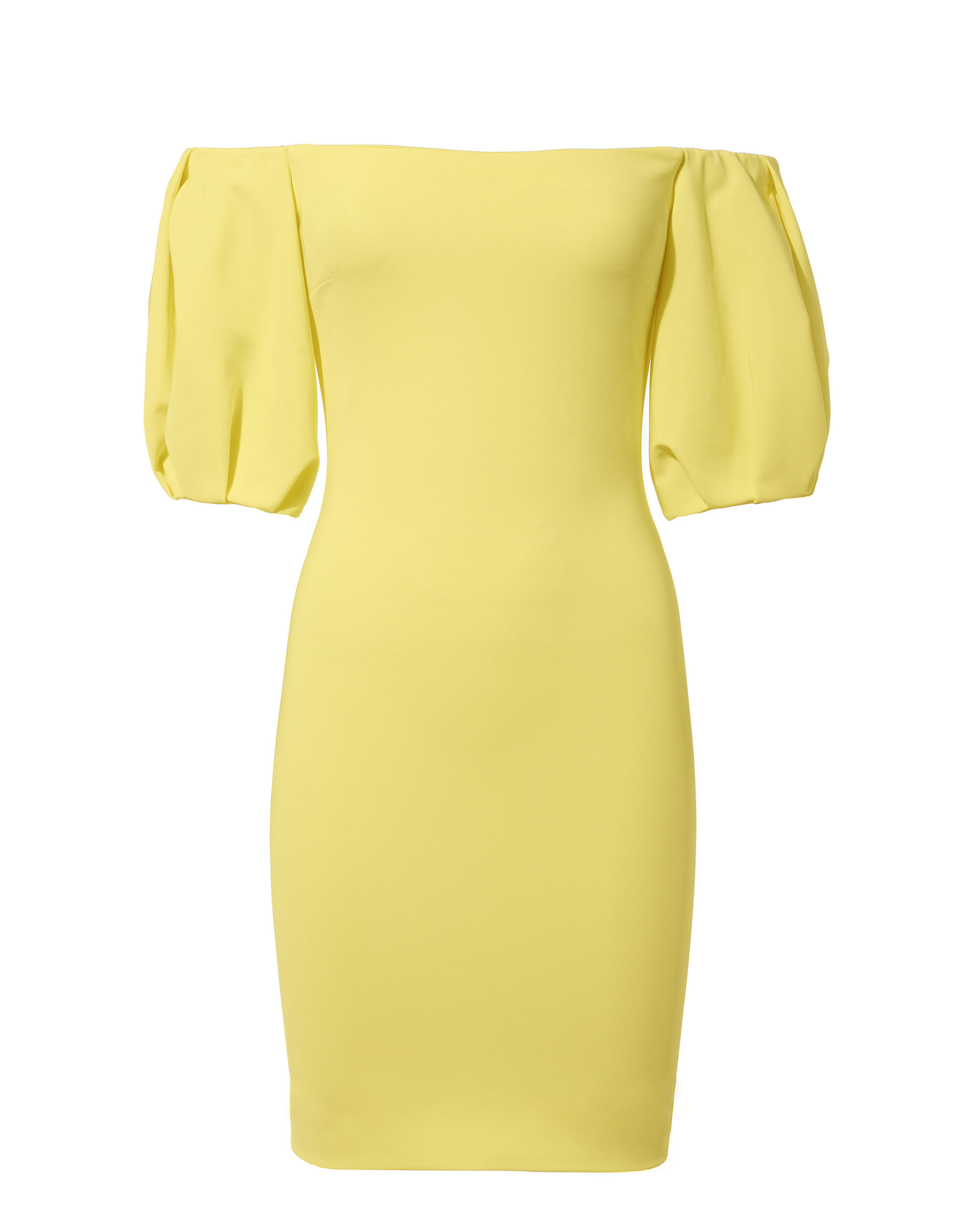 Silvia Off Shoulder Mini Dress, YELLOW, hi-res