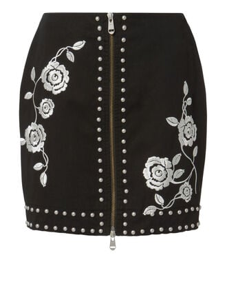 Fatima Mini Skirt, BLACK, hi-res