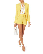 Lulu Lace-Up Shorts, YELLOW, hi-res