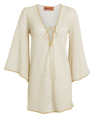 Lurex-Flecked Knit Mini Kaftan, MULTI, hi-res