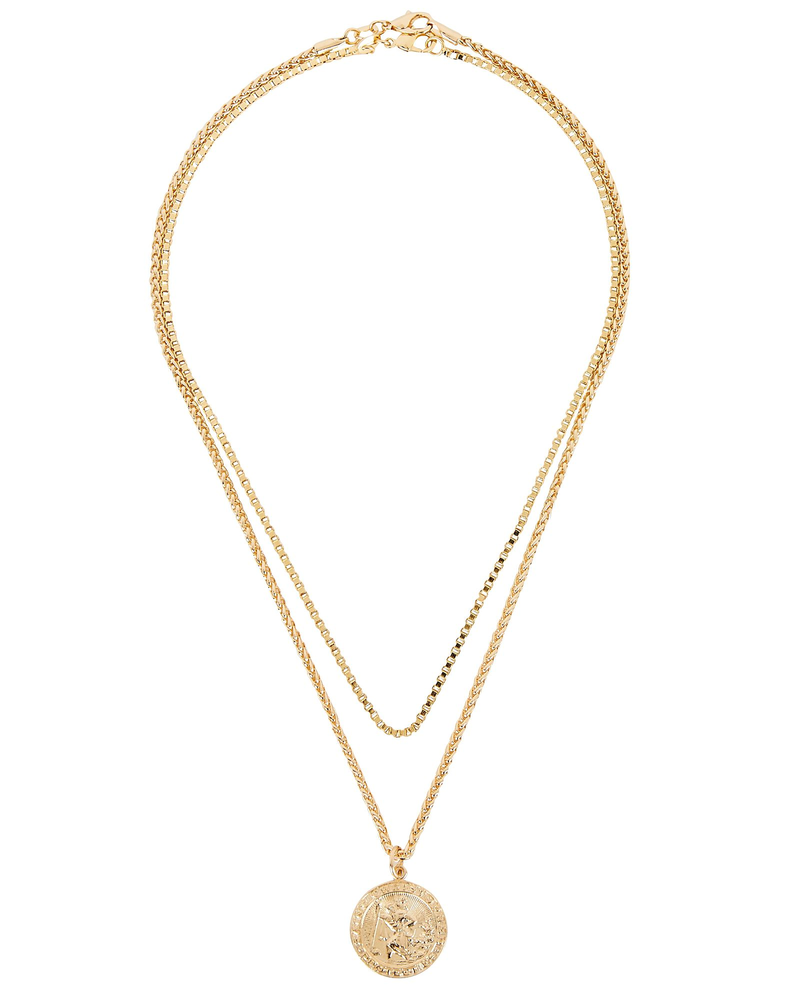 Postcards from Sorrento Layered Necklace, GOLD, hi-res