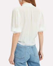 Eileen Tie Front Blouse, IVORY, hi-res