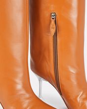 Rain Leather Knee-High Boots, BROWN, hi-res