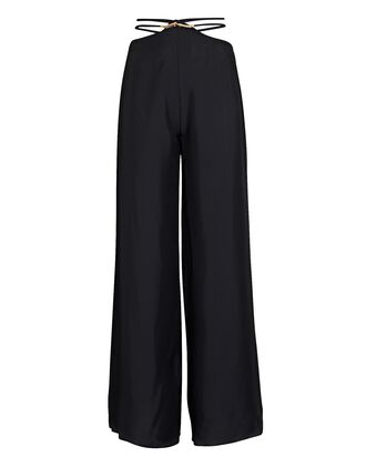Tessa Cut-Out Wide-Leg Pants, BLACK, hi-res