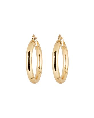 Thicker Than Your Average Hoop Earrings, GOLD, hi-res