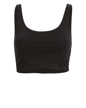 Clio Organic Cotton Crop Top, BLACK, hi-res