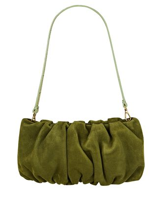 Bean Ruched Suede Bag, OLIVE/ARMY, hi-res