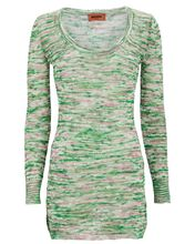 Space-Dyed Cotton Knit Top, LIGHT GREEN, hi-res