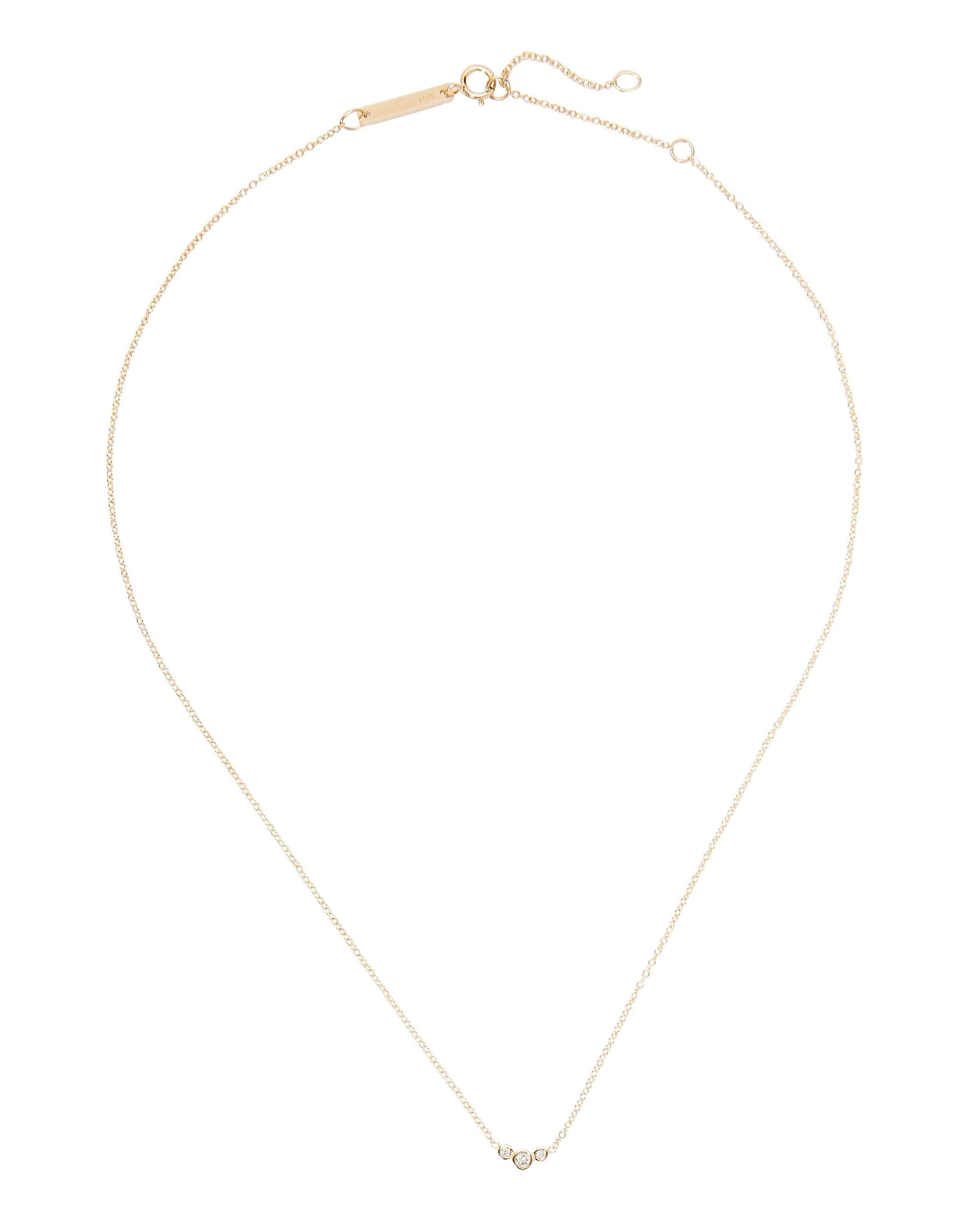 Small Graduated Diamond Necklace, GOLD, hi-res