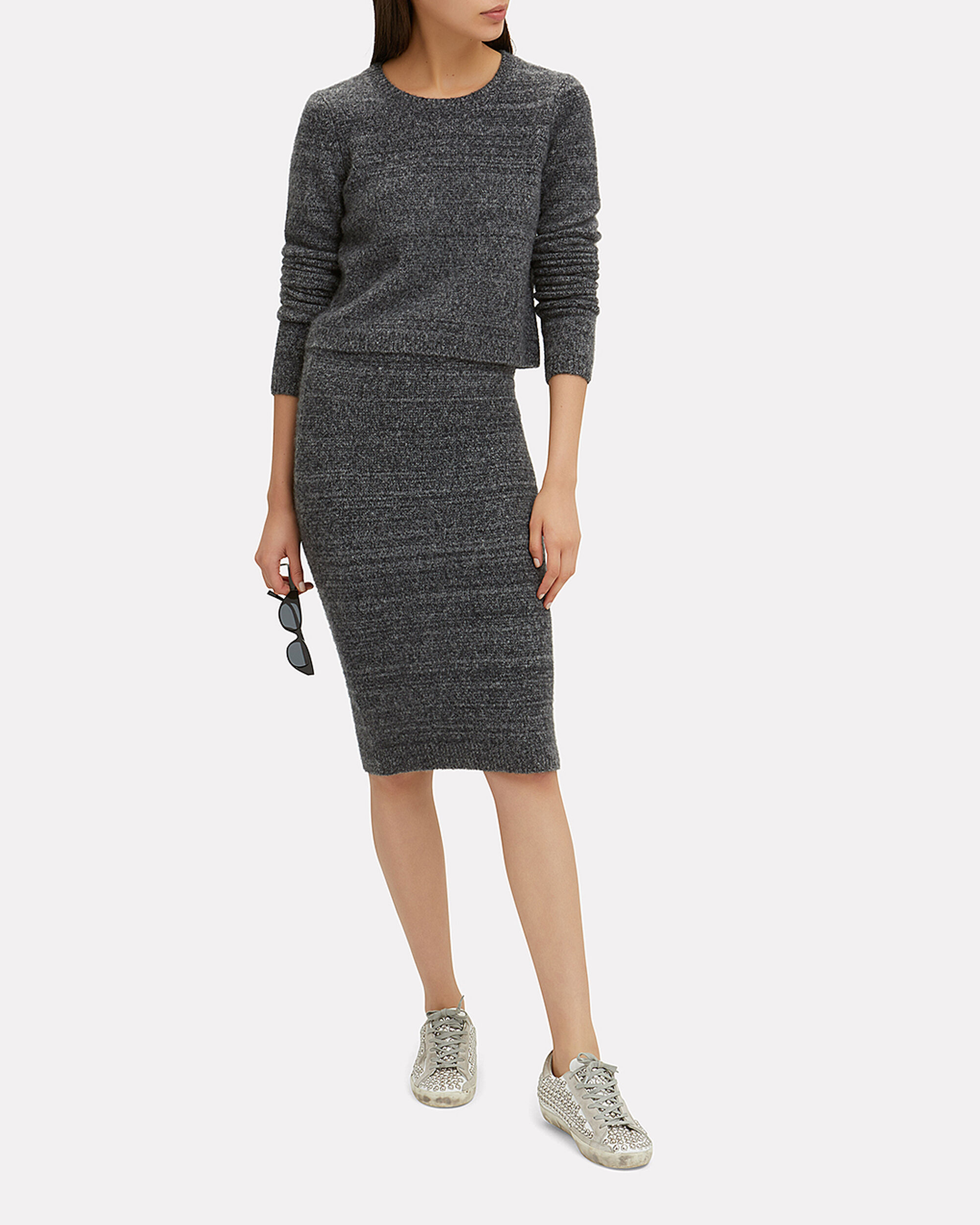 Arden Pencil Skirt, CHARCOAL, hi-res