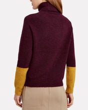 Lisi Colorblocked Turtleneck Sweater, MULTI, hi-res