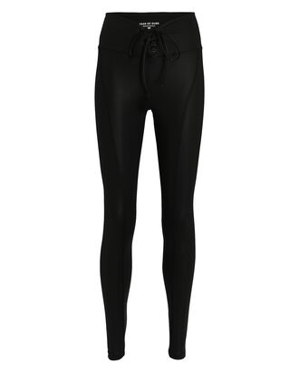 Gloss Football Leggings, BLACK, hi-res