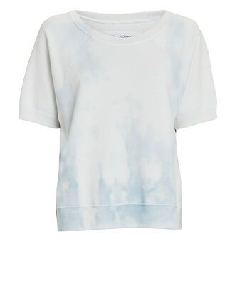Ciara Short Sleeve Sweatshirt, WHITE/BLUE, hi-res