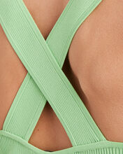 Jordan Cross Back Knit Tank, GREEN-LT, hi-res