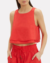 Agnes Red Crop Tank, RED, hi-res