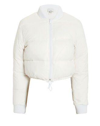 Gus Cropped Puffer Jacket, WHITE, hi-res