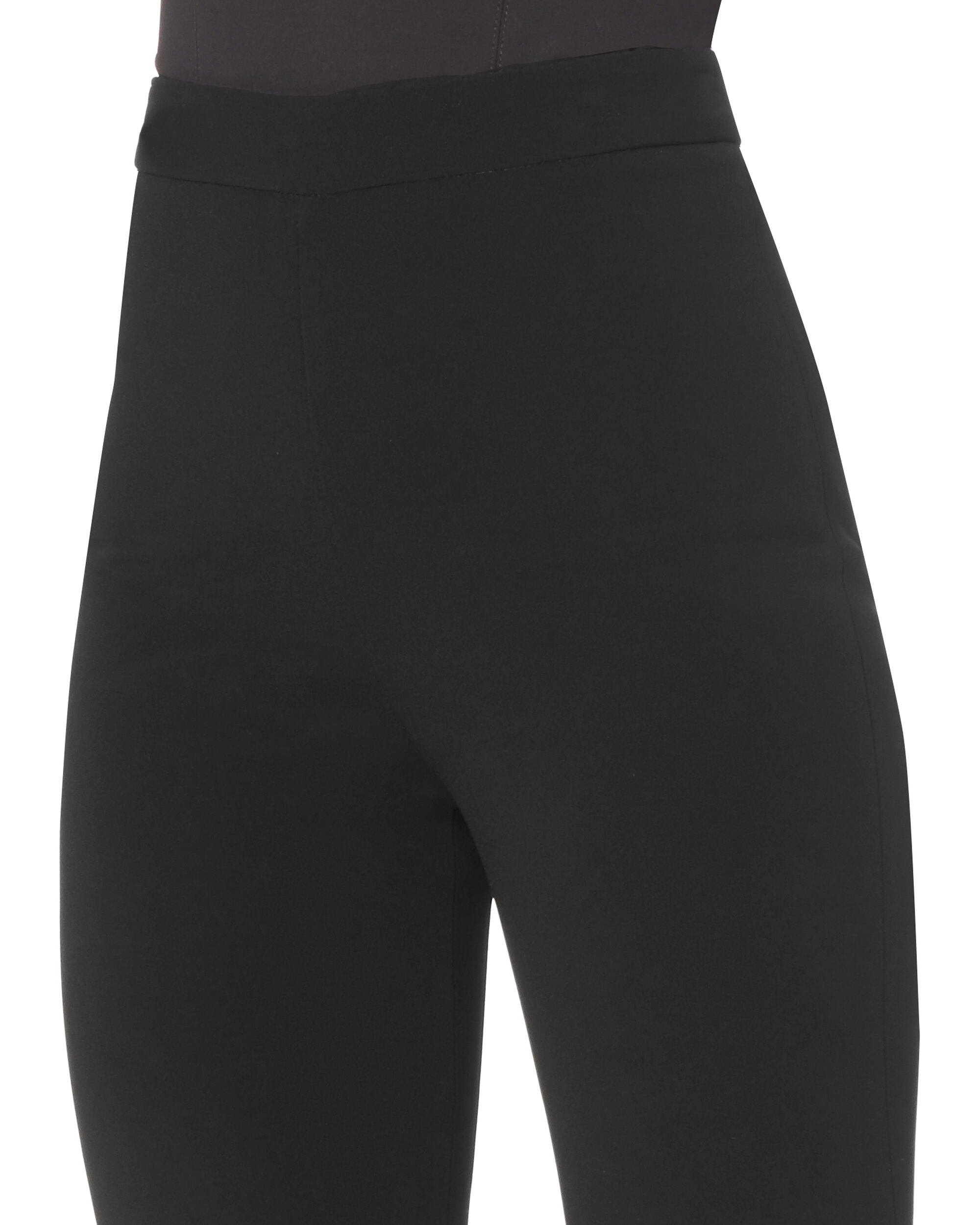 Exaggerated Flare High-Waist Pants, BLACK, hi-res
