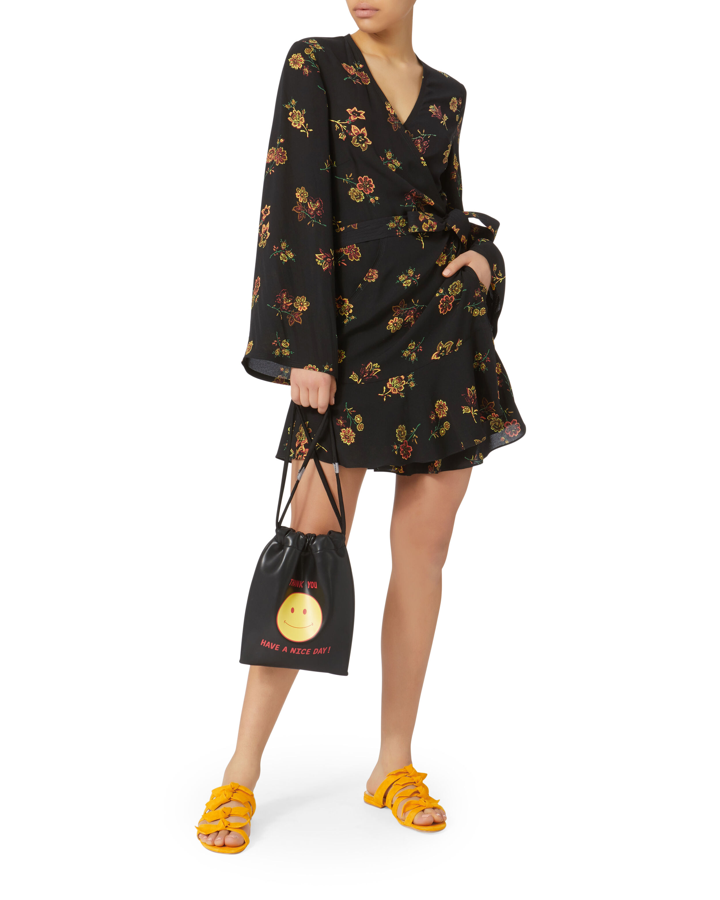 A.L.C. belted wrap dress For Sale Official Site Buy Online Cheap Price SSTExg9Z8