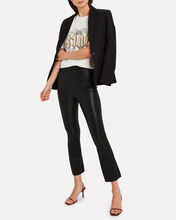 Kick Flare Leather Leggings, BLACK, hi-res