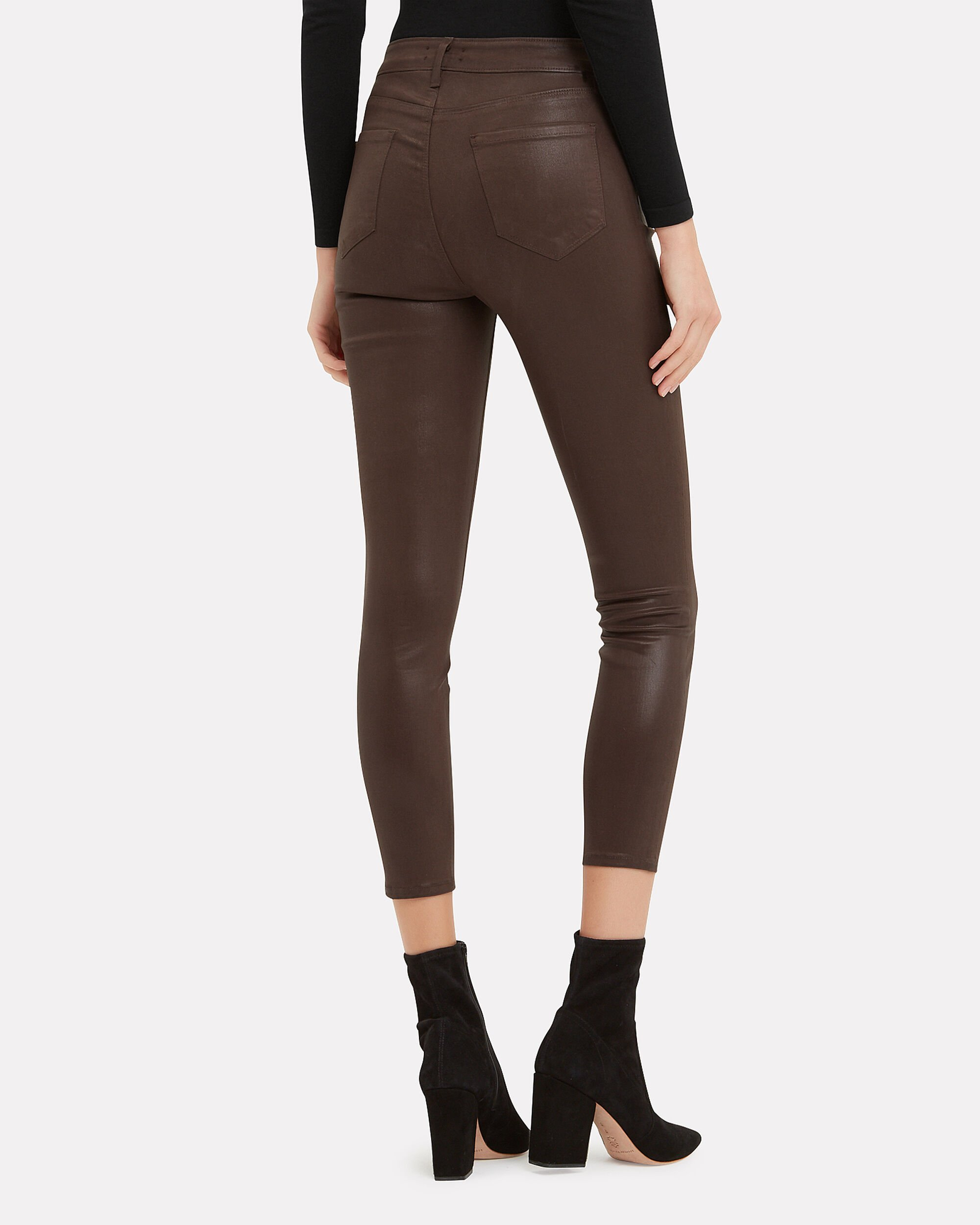 Margot Cocoa Coated High-Rise Ankle Skinny Jeans, COCOA BROWN, hi-res