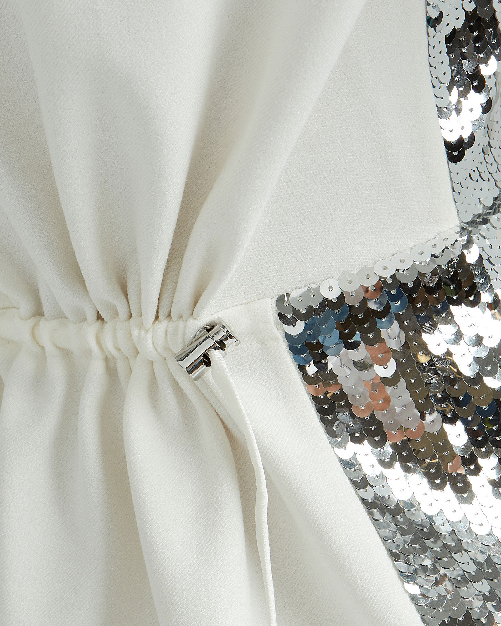 Avril Sequined Crepe Dress, SILVER/IVORY, hi-res