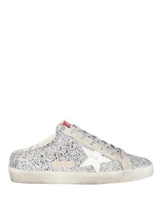 Superstar Sabot Glitter Slip-On Sneakers, SILVER, hi-res