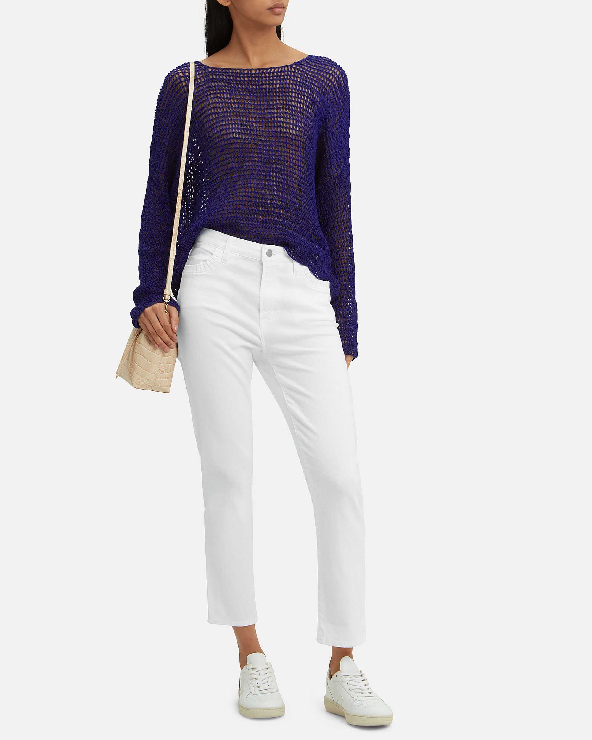 Ruby Cropped Cigarette Jeans, WHITE, hi-res