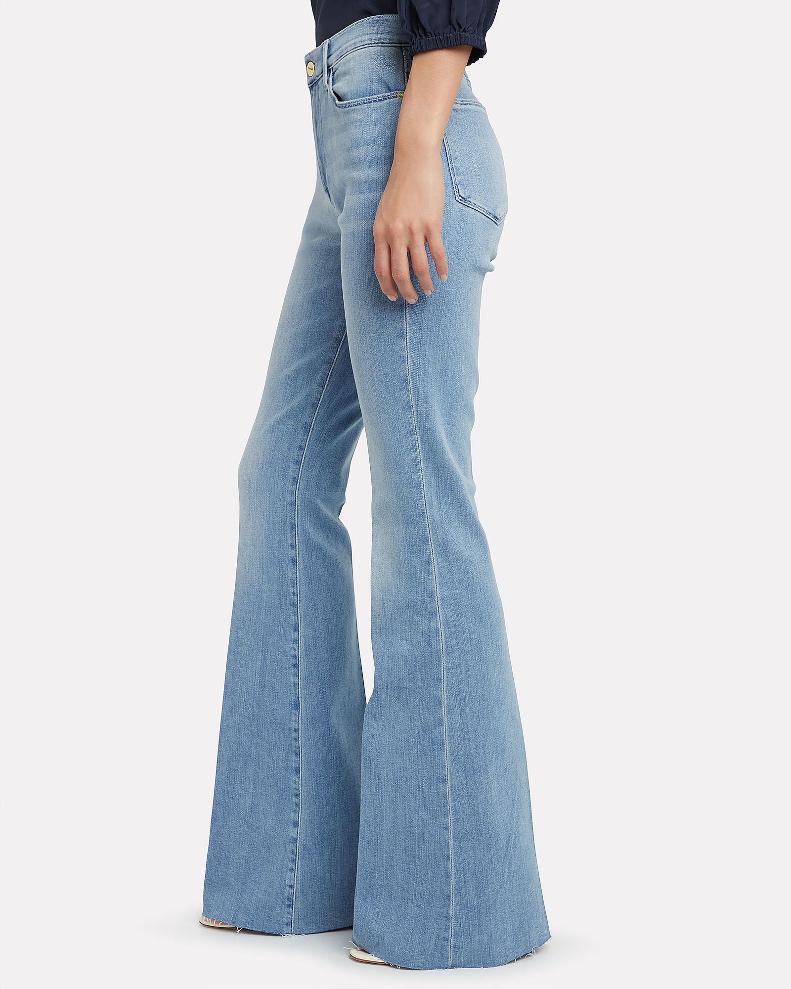 Le High Flare Jeans, DENIM-LT, hi-res