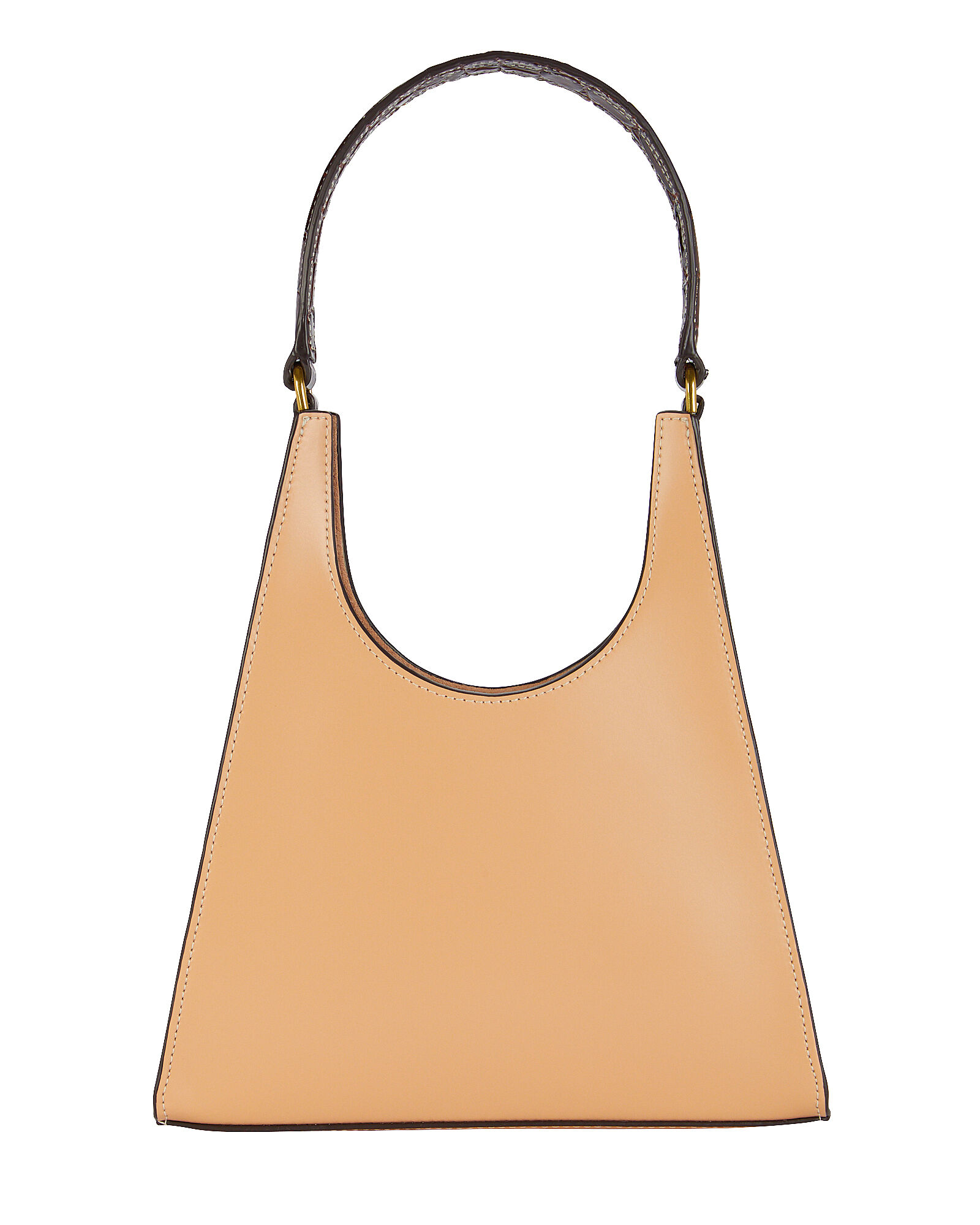 Rey Leather Shoulder Bag, BEIGE, hi-res