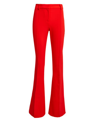 Scuba Flare Pants, RED, hi-res