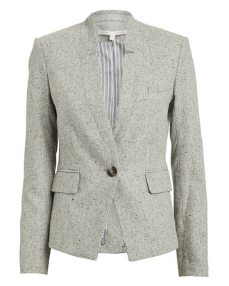 Farley Wool-Blend Dickey Blazer, GREY, hi-res