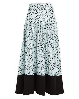 Inky Leopard Belted Skirt, SEAFOAM/BLACK, hi-res