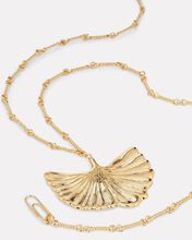 Biloba Ginkgo Pendant Necklace, GOLD, hi-res